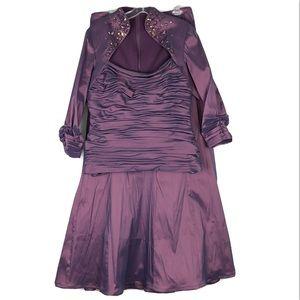 Tadashi Shoji Taffeta 2 Piece Jeweled Dress MOTB